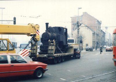 Dopremanje lokomotive 207 iz Tehničkog muzeja u Hrvatski željeznički muzej