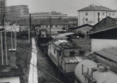 Prvi izložbeni kolosijek u dvorištu Hrvatskog željezničkog muzeja