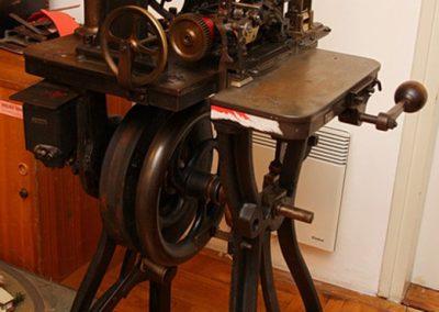 Stroj za tiskanje voznih karata Goebel, Darmstadt, 1928.