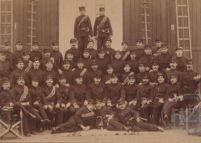 Vatrogasci Strojarnice kraljevskih ugarskih državnih željeznica u Zagrebu oko 1900.