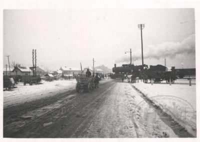Željezničko cestovni prijelaz u Heinzlovoj ulici u Zagrebu 1937.