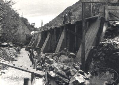 Izgradnja potpornog zida na 31.2 km pruge Varaždin - Golubovec