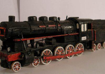 Maketa parne lokomotive serije JŽ  11-062 u mjerilu 1:100