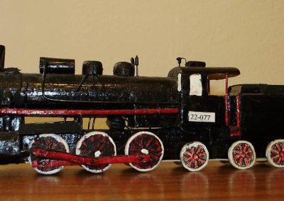 Maketa parne lokomotive serije JŽ  22 u mjerilu 1:100