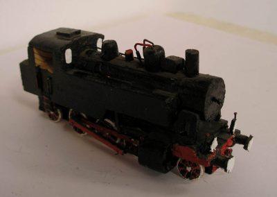 Maketa parne lokomotive serije JŽ  50 u mjerilu 1:100