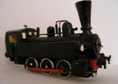 Maketa parne lokomotive serije JŽ 151 u mjerilu 1:100