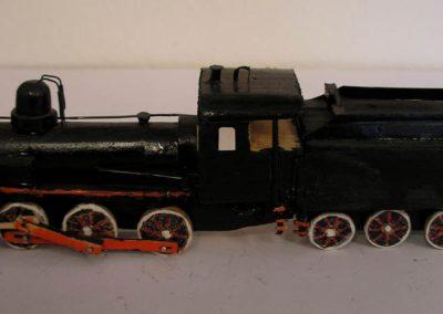 Maketa parne lokomotive serije JŽ 123 u mjerilu 1:100