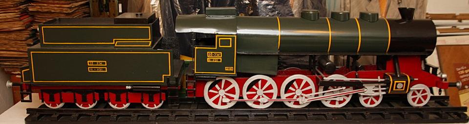 Maketa parne lokomotive serije JŽ  11-031