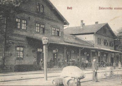 Željeznički kolodvor Dalj, razglednica putovala 1907. godine