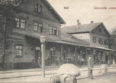Dalj, željeznička stanica (razglednica)