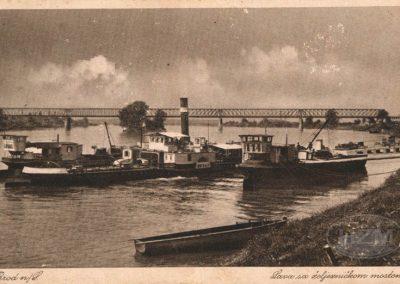 Brod na Savi, naklada Knjižare NIkola Weber; razglednica putovala 1915. godine