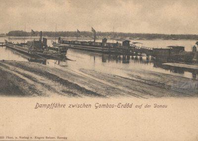 Dampffähre zwischen Gombos-Erdöd auf der Donau, naklada Eugen Selzer Osijek,  početak 20. stoljeća