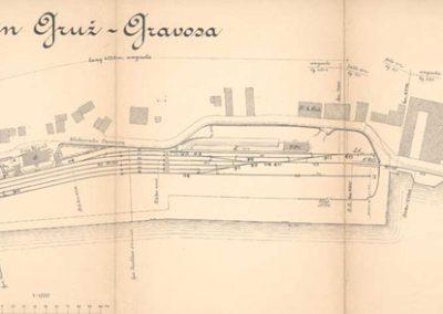 K.k.Staatsbahndirektion Triest, Pružni odvojak Uskoplje-Gruž; situacija kolodvora Gruž, 1913,