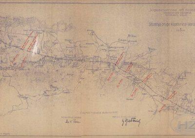 Situacija pruge Koprivnica - Varaždin, 1937.