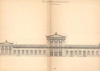 Ferenc Pfaff, pročelje prijamne kolodvorske zgrade Rijeka, 1906.
