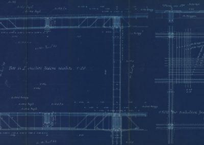 Detaljni konstrukcije riječkog lučkog skladišta XIV; Kálmán Balogh; Grünwald Testvérek, 1906.