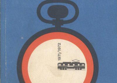 Vozni red, Jugoslovenske železnice, 1971.