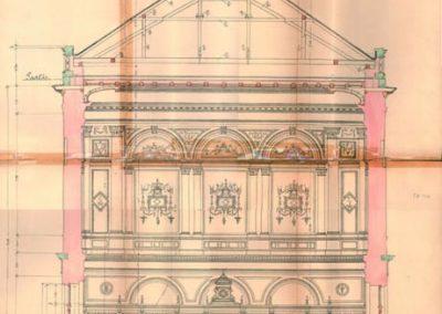 Zagreb Glavni kolodvor, prijemna zgrada, Ferenc Pfaff,1890., Zbirka tehničke dokumentacije