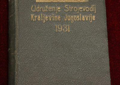 Strojovodski kolendar, 1931.