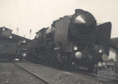 Parna lokomotiva 06-027 u kolodvoru Moravice
