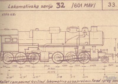 Skica lokomotive serije 32
