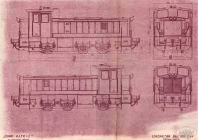 Tipska skica lokomotive DHL 600 C44